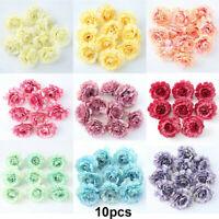 10pcs Silk Fake Peony Flowers Floral Heads Artificial Wedding Bouquet Home Decor