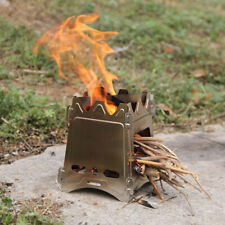 Usa Lixada Compact Folding Wood Stove for Outdoor Camping Cooking Picnic Bbq