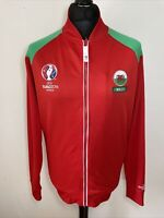 UEFA Euro 2016 France WALES National Team Red Tracksuit Trackie Zip Top L Large