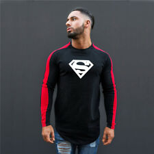 Men's Professional Superman Logo Clothing Sport Compression Long Sleeves T Shirt