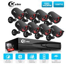 XVIM 8CH 4in1 HDMI DVR Home Surveillance Cameras System Outdoor CCTV Kits 1TB AU