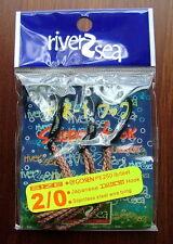 3 x 2/0 River2sea Japanese Daiichi Assist Hooks