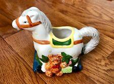 Rare Vintage Whimsy Christmas Block Spal Rocking Horse Creamer Portugal
