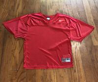 Men's Nike Red Small Short Sleeve V-neck Plain Team Jersey