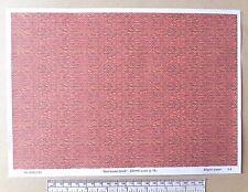 """OO/HO gauge (1:76 scale) """"red-brown brick"""" -  paper - A4 sheet"""