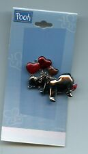 Disney Winnie the Pooh - Eeyore with Hearts Heart Balloons Silver Jewelry Pin