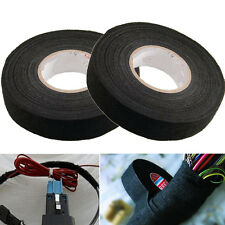 19mm x 15M Adhesive Cloth Fabric Tape Cable Looms Wire Harness Wrap For Car Auto