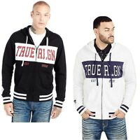 True Religion Men's Fight On Paneled Zip-Up Hoodie