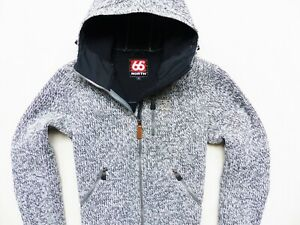 WOMEN'S GREY 66 NORTH ICELAND VINDUR WOOL HOODED JACKET SIZE: S (SMALL)
