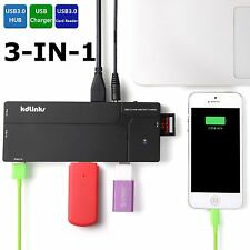 KDLINKS Ultra Slim 10-Port USB 3.0 All In One Hub Station Charger SD Card Reader