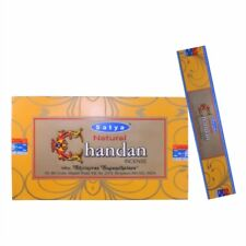 Satya Nag Champa Incense Sticks - Gold Label Chandan - 3 X 15g
