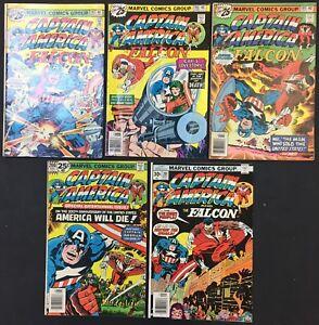 Captain America Comics (Lot of 5) Vintage 1976