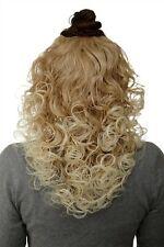 Hair Piece half Wig Clip-In Hair Extension Curls Blonde Mix 40cm H9312-27T613