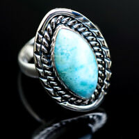 Larimar 925 Sterling Silver Ring Size 8 Ana Co Jewelry R982278F