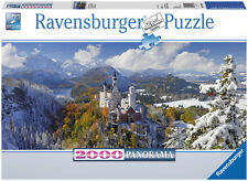RAVENSBURGER CASTELLO DI NEUSCHWANSTEIN CASTLE  2000 PEZZI  132x61 CM  ART 16691