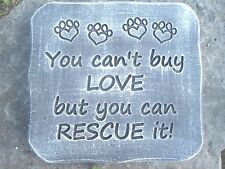 "Rescue dog cat animal mold concrete plaster mould 11"" x 10.5"" x .75"""
