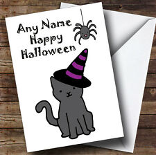 Witch Cat Personalised Halloween Card