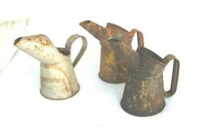 3 vintage 1pt. oil pourers all point of sale with GR seals 1940's