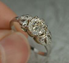 Art Deco 1.00 Carat Diamond and Platinum Solitaire Engagement Ring