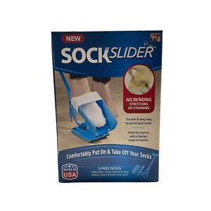 SOCK SLIDER As Seen On TV Aid Helper Easy On Easy Off Kit GENUINE Made in USA
