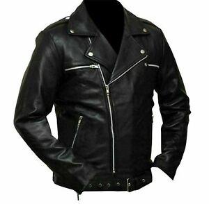 The Walking Dead Negan Jeffrey Dean Morgan Black Stylish Leather Jacket New