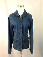 Hearts of Palm Size 14 Women's Jacket Denim Collar Button Front Medium Wash