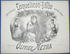 VALSE PIANO PARTITION MÉTRA COQUELICOT VASSEUR DROIT DU SEIGNEUR 1879 ILL LAMY