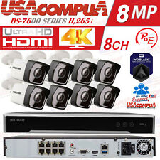 Hikvision SECURITY SYSTEM 8CH POE BULLET / HDD INCLUDE / 4MEGAPIXEL  H,265+