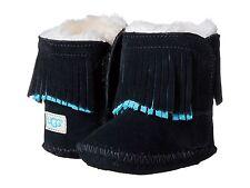 Ugg Australia Branyon Infant Baby 0/1 Size 0 - 6 Months Black Boot Booties