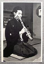 Document photo JAPON Musicien de la cour Gagaku flute shakuhachi clipping