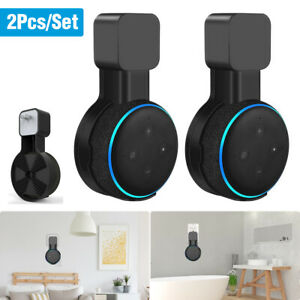 2PCAK Outlet Wall Mount Stand Holder For Amazon Echo Dot 3rd Generation Speaker
