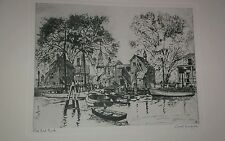 ETCHING-LIONEL BARRYMORE-OLD RED BANK-TALIO CHROME