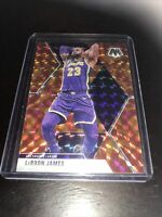 Panini Mosaic Orange Reactive Lebron James Base Lakers 2020 MVP