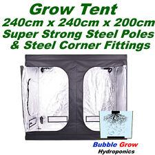 GROW TENT 240X240X200 DELUXE MYLAR REFLECTIVE INDOOR HYDROPONIC ROOM 2.4x2.4x2