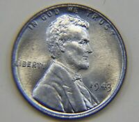 UNCIRCULATED 1943-P  STEEL GEM BU LINCOLN WHEAT BACK PENNY U.S. COIN CENT