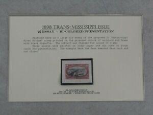 Nystamps E US Stamp # 286-E8 Mint Essay $550 Rare