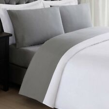Anytime Grey Full Sheet Set Imported Linen Bed Hypoallergenic Machine Washable