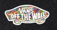 "2 Vans ""Off the Wall"", Multi-Color, Vinyl Sticker"