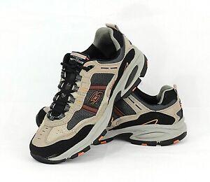 Men's Skechers VIGOR 2.0 TRAIT Sports Beige Running Trail Shoes Size 10.5 EUR 44