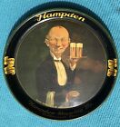 1934 Hampden Brewing Handsome Waiter Metal Serving Beer Tray Mass Advertising