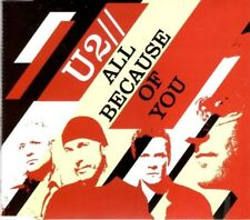 U2 All because of you  RARE 3 TRACK CD NEW - NOT SEALED