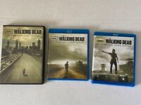 The Walking Dead Seasons 1 DVD, 2 and 3 on Blu Ray
