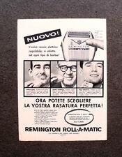 [GCG] M703 - Advertising Pubblicità -1959- REMINGTON ROLL-A-MATIC PER OGNI BARBA