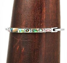 Artisan Abalone Cuff Bracelet from Taxco Mexico