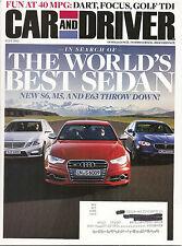Car & Driver July 2012 - Dodge Dart - Ford Focus - VW Golf TDI - Audi S6