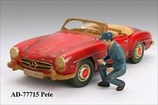 MECHANIC PETE FIGURE FOR 1:18 SCALE DIECAST MODEL CARS BY AMERICAN DIORAMA 77715