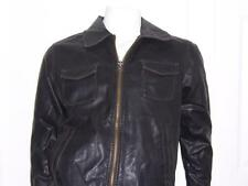 VTG DAKOTA BOMBER BIKER MOTORCYCLE BROWN JACKET SZ MEDIUM UNDERARM-UNDERARM 23""