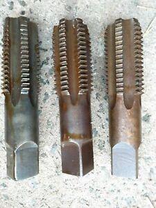 Aussie P&N Easicut 3x hand taps Set BSW 2 1 7/8 3/4 5/8 1/2 3/8 1/4 1/8 13 11/16