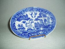 Vintage Japanese BLUE WILLOW Oval Platter LARGE Children's Child's TOY DISHES