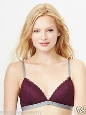 NEW Gap Body Favorite Underwire Bra Floral Lace Burgundy Stretch 36B $39 NWT